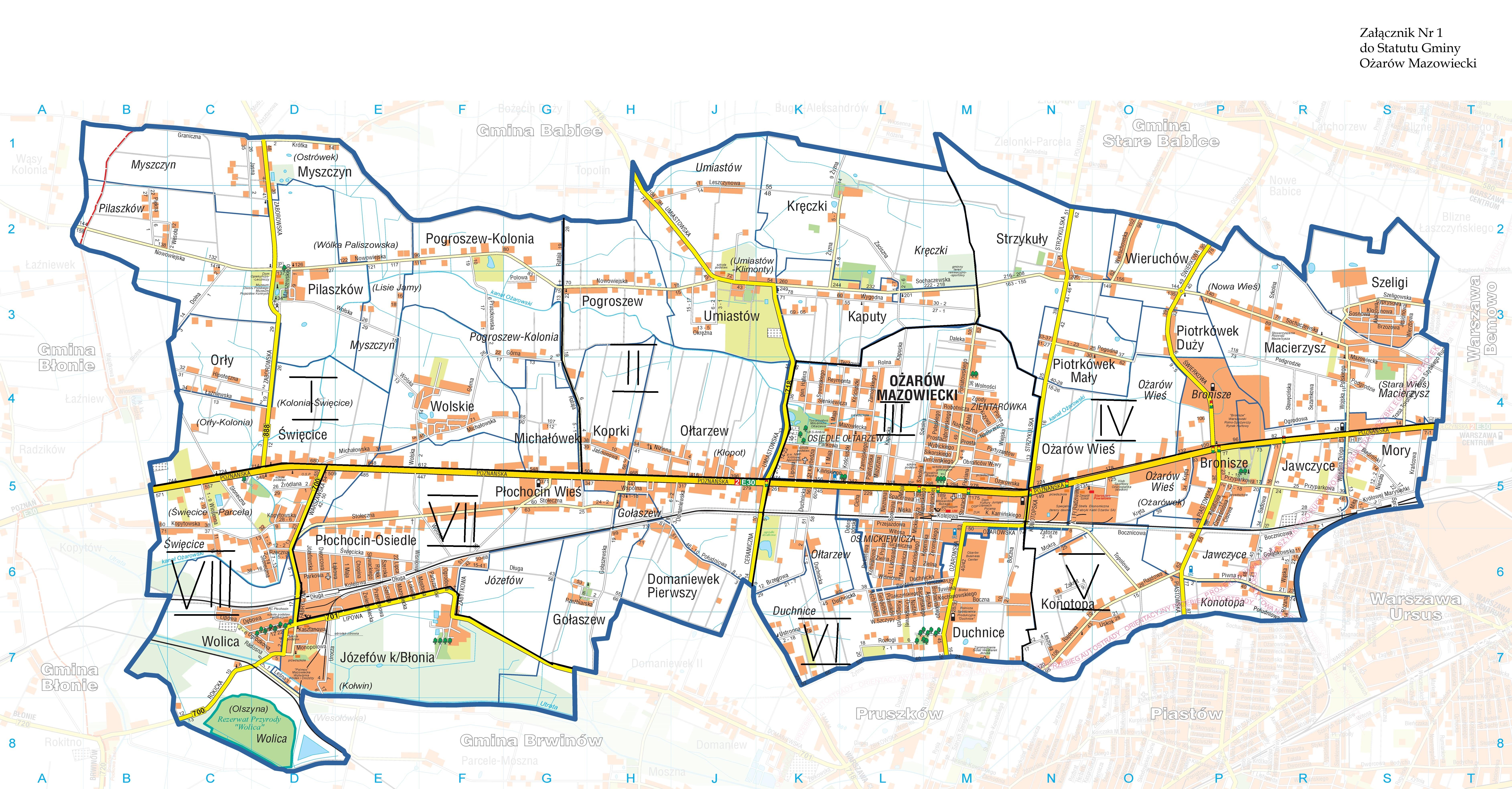 mapa ozarow